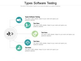 Types Software Testing Ppt Powerpoint Presentation Infographics Deck Cpb