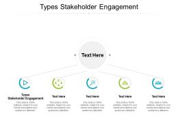 Types Stakeholder Engagement Ppt Powerpoint Presentation Visuals Cpb