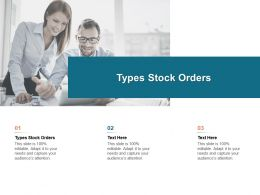 Types Stock Orders Ppt Powerpoint Presentation Styles Clipart Images Cpb