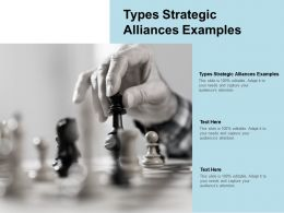 Types Strategic Alliances Examples Ppt Powerpoint Presentation Example Cpb