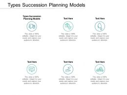 Types Succession Planning Models Ppt Powerpoint Presentation Ideas Display Cpb