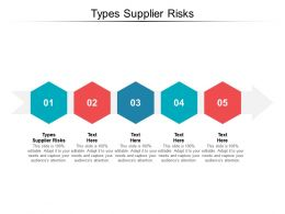 Types Supplier Risks Ppt Powerpoint Presentation Pictures Slide Download Cpb