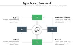 Types Testing Framework Ppt Powerpoint Presentation Inspiration Background Images Cpb