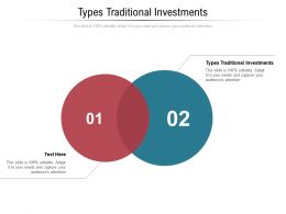 Types Traditional Investments Ppt Powerpoint Presentation Infographics Structure Cpb