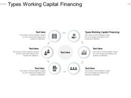 Types Working Capital Financing Ppt Powerpoint Presentation Pictures Sample Cpb
