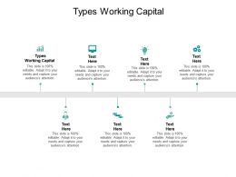 Types Working Capital Ppt Powerpoint Presentation Gallery Download Cpb