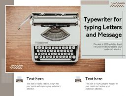 Typewriter For Typing Letters And Message
