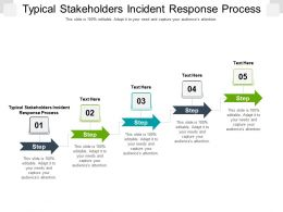 Typical Stakeholders Incident Response Process Ppt Powerpoint Presentation Styles Graphics Pictures Cpb