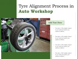 Tyre Alignment Process In Auto Workshop