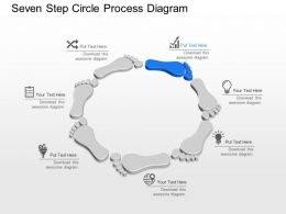 Ua Seven Step Circle Process Diagram Powerpoint Template Slide