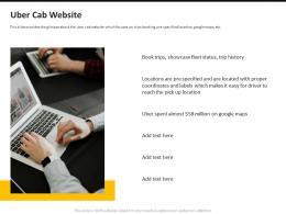 Uber Pitch Deck Cab Website Ppt Powerpoint Presentation Inspiration Deck