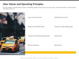 Uber Values And Operating Principles Ppt Powerpoint Presentation File Guide