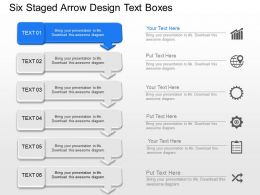 Uc Six Staged Arrow Design Text Boxes Powerpoint Template Slide