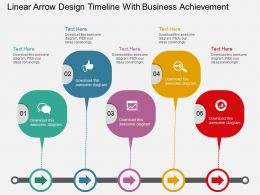 ud Linear Arrow Design Timeline With Business Achievement Flat Powerpoint Design