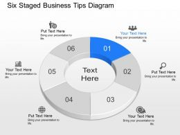 Ue Six Staged Business Tips Diagram Powerpoint Template Slide