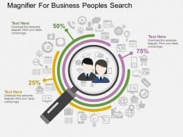 ug Magnifier For Business Peoples Search Flat Powerpoint Design