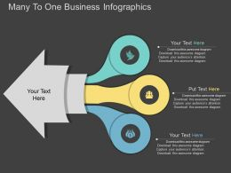 uh Many To One Business Infographics Flat Powerpoint Design