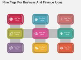 ui Nine Tags For Business And Finance Icons Flat Powerpoint Design