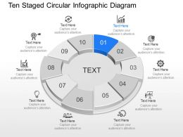 Ui Ten Staged Circular Infographic Diagram Powerpoint Template Slide