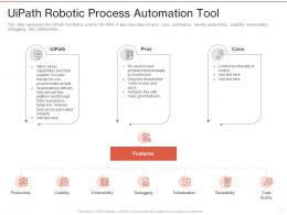 Uipath Robotic Process Automation Tool Ppt Powerpoint Presentation Ideas Example