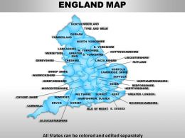 UK England Country Powerpoint Maps