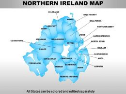 UK Northern Ireland Country Powerpoint Maps