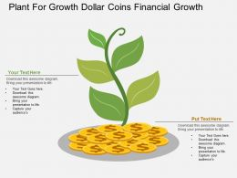 uk Plant For Growth Dollar Coins Financial Growth Flat Powerpoint Design