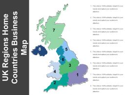Uk Regions Home Countries Business Map