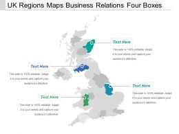 Uk Regions Maps Business Relations Four Boxes