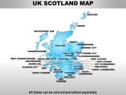 UK Scotland Country Powerpoint Maps