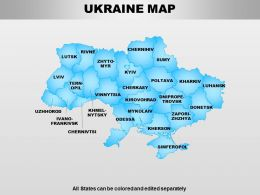 Ukraine Powerpoint Maps