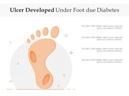 Ulcer Developed Under Foot Due Diabetes