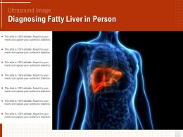 Ultrasound Image Diagnosing Fatty Liver In Person