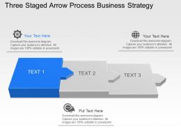 Um Three Staged Arrow Process Business Strategy Powerpoint Template Slide