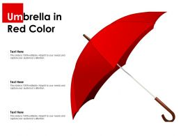 Umbrella In Red Color