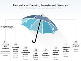 Umbrella Of Banking Investment Services