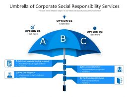 Umbrella Of Corporate Social Responsibility Services