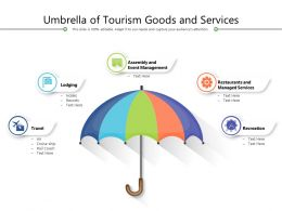 Umbrella Of Tourism Goods And Services