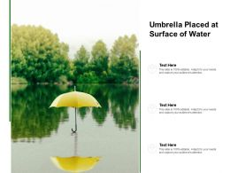Umbrella Placed At Surface Of Water