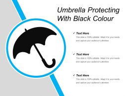 Umbrella Protecting With Black Colour