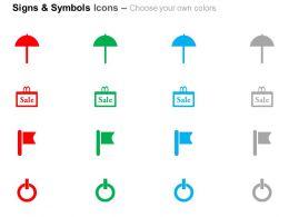 umbrella_sale_flag_power_button_ppt_icons_graphics_Slide02