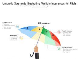 Umbrella Segments Illustrating Multiple Insurances For Pitch