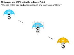 umbrella_with_dollar_symbol_and_icons_flat_powerpoint_design_Slide02
