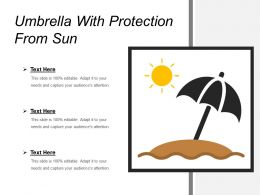 Umbrella With Protection From Sun