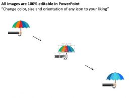 umbrella_with_saving_concept_and_business_icons_flat_powerpoint_design_Slide02
