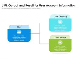 UML Output And Result For User Account Information