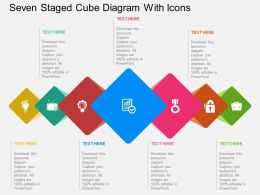 un Seven Staged Cube Diagram With Icons Flat Powerpoint Design