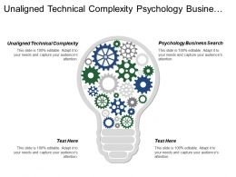 Unaligned Technical Complexity Psychology Business Search Reactive Planning