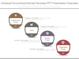Unbiased Accounting Estimate Template Ppt Presentation Examples