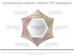 Unconstrained Investment Selection Ppt Infographics